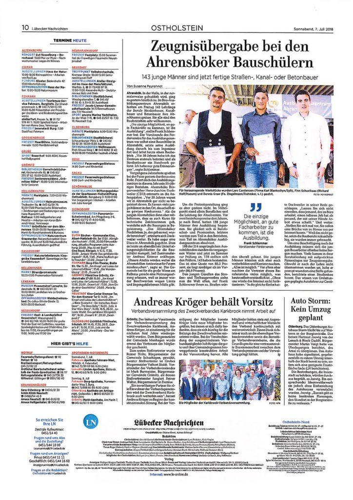 Zeitungsartikel Dennis Graw, Zingelmann GmbH